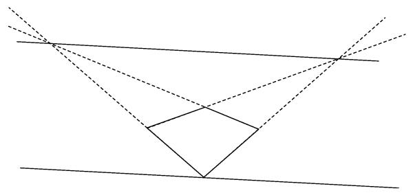Horizon Line Art Definition : Drawing an evenly spaced grid in two point perspective